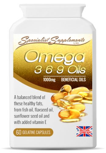 Omega 3-6-9 Oils, 1000mg With Sunflower Seed, Flaxseed & Fish Oils